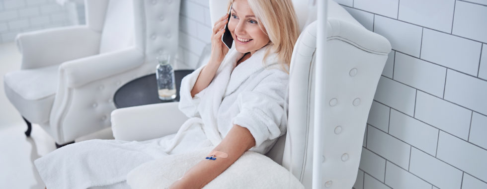 Nad therapy session - Woman relaxed